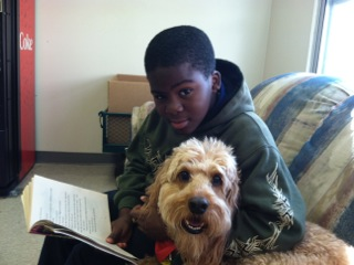 Cooper and Friend Reading